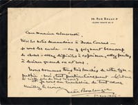 Letter from Nadia Boulanger to Michel-Dmitri Calvocoressi, November 1, 1936