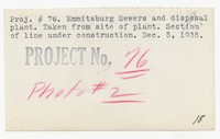 Sewers and disposal plant, Emmitsburg, MD, December 5, 1935