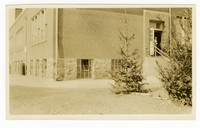 Concrete walks and trees, Winfield Consolidated School, Carroll County, Maryland, undated
