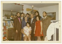 Sarmiento family at Christmas, December 1970 [Photograph, Color] [Digital Only]