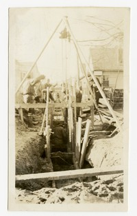 Laying sanitary sewers, Pocomoke, MD, January 15, 1936