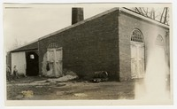 Demolition two brick building construction, Snow Hill, MD, November 4, 1935