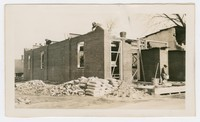 Constructing brick fire house, Snow Hill, MD, February 28, 1936
