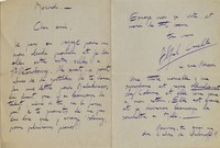 Letter from Alfredo Casella to Michel-Dmitri Calvocoressi, undated