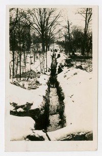 Looking south along ditch, Frostburg, MD, December 19, 1935