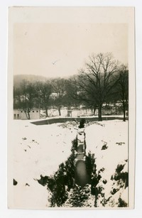Looking north along ditch, Frostburg, Maryland, December 19, 1935