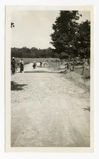 Knapped stone roadway, McHenry, MD, August 20, 1937