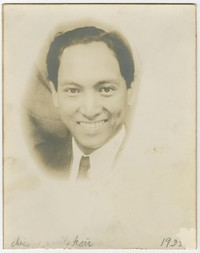 Clemente Cacas at the Chicago World's Fair [Photograph, Black and White] [Notebook 1]