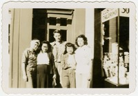 Family photo of brothers and sisters in the Toribio family [Photograph, Black and White] [Digital Only]