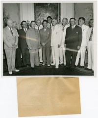 Ambassador Joaquin M. Elizalde of the Philippines with a group of men at the Filipino Embassy, Washington, D.C. [Photograph, Black and White] [Digital Only]
