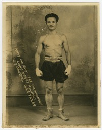 Gill S. Gaudiel, lightweight Filipino boxer from the 1928 Army and Navy Championship [Photograph, Black and White] [Digital Only]