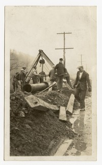 Bedford Street water line extention, Cumberland, Maryland, December 10, 1935