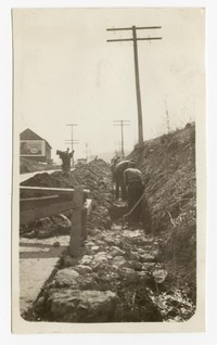 Water main trench on Bedford Street, Cumberland, Maryland, March 10, 1936