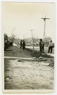 Road construction on Frankford Road, Baltimore, Maryland, November 5, 1935