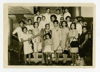 Farewell Despedida for Lourdes Bello at Manila Airport at her Departure for the United States [Photograph, Black and White] [Notebook 1]