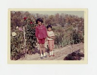 Rita and Emily Cacas at Victory Gardens in Glover Park, Washington, D.C. [Photograph, Color] [Notebook 1]