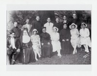 Florentine Calabia (far left) with Church Group [Photograph, Black and White] [Notebook 1], Circa 1920s