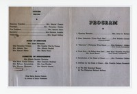 Copy of the Program to the 1943 Filipino Women's Club Supper and Dance [Photograph, Color] [Notebook 1], December 4, 1943