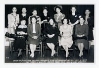 Picture of the Board of Directors of the Filipino Women's Club of Washington, D.C. with Mrs. Manual L. Quezon (center, front) guest speaker [Photograph, Black and White] [Notebook 1], October 6, 1943