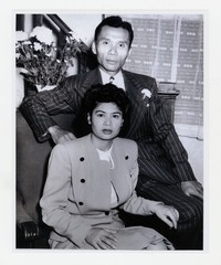 Vangie Abellera and Juanito Paredes at home, Chesapeake Street, Southeast Washington, D.C. [Photograph, Black and White] [Notebook 1], 1941