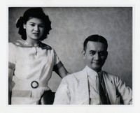 "Evangeline ""Vangie"" Abellera with Francisco Varona (elected representative of the Philippine Legislature) [Photograph, Black and White] [Notebook 1], Mid 1930s"