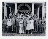 President Manuel Quezon and His Family and Friends [Photograph, Black and White] [Notebook 1], Circa 1944