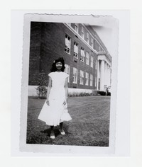 Clavelina Quidangen School Photo at Kramer Junior High School in Anacostia [Photograph, Black and White] [Notebook 1], Circa Early 1950s