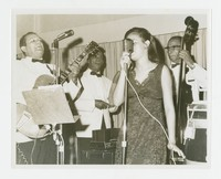 Musicians and a Singer [Photograph, Black and White] [Notebook 2], Circa 1966