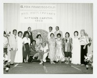Mrs. Philippines - Nation's Capital - Lydia Francisco-Caja [Photograph, Black and White] [Notebook 2], 1988
