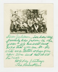 Photo and Letter from Kneedler Family [Document] [Notebook 2], Circa October 1946