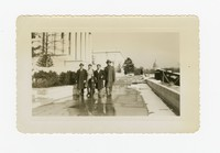 Five Individuals at the National Gallery of Art in Washington D.C., with the Capitol in the Background [Photograph, Black and White] [Notebook 2], Circa 1950