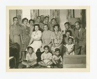 Group Photo at Calabia House in northeast Washington, D.C. [Photograph, Black and White] [Notebook 2], July 1, 1945
