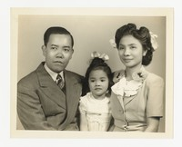 Lucelo, Leona and Minna Puyot [Photograph, Black and White] [Notebook 2], April 21, 1946