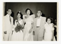 Mina Puyot as May Queen with Lena Panganiban and Others [Photograph, Black and White] [Notebook 2], 1957