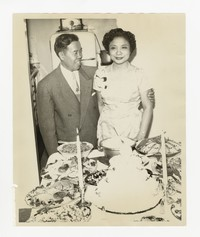 Leona Puyot and Lucelo Puyot [Photograph, Black and White] [Notebook 2], circa 1950-1960