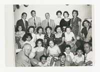 Leona Puyot with Group at Celebration; Includes Francisco Salveron [Photograph, Black and White] [Notebook 2], circa 1950-1960