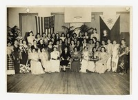 Large Group of Women at Filipino Women's Club Supper and Dance at USO Club, Washington, D.C. [Photograph, Black and White] [Notebook 2], December 4, 1943