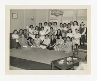 Group of Women; Includes Leona Puyot [Photograph, Black and White] [Notebook 2], circa 1940-1960