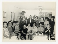 Leona Puyot with Group [Photograph, Black and White] [Notebook 2], Circa 1960-1970