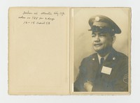 Formal Portait of Filipino Man in Uniform, Atlantic City, New Jersey [Photograph, Black and White] [Notebook 2], April 12-15, 1953