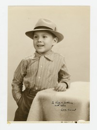 Studio Portrait of Boy Sent to Rudy and Juliana [Panganiban] from Little Vincent [Photograph, Black and White] [Notebook 2], circa 1940-1950
