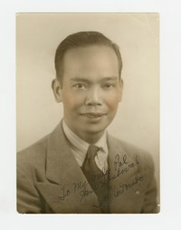 Felipe Estifano Mondoñedo, signed to Jose Xandoval [Photograph, Color] [Box 2, Black Photograph Box], circa 1940-1950