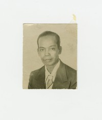 Portrait of Felipe Mondoñedo wearing a suit [Photograph, Black and White] [Box 2, Black Photograph Box], circa 1920-1940