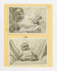 Three photographs of Nita Mondonedo as a baby [Photograph, Black and White and Color] [Box 2, Black Photograph Box], 1946