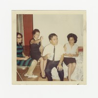 "Four young people - ""Family and friends of 6626 Georgia Avenue NW DC"" [Photograph, Color] [Box 2, Black Photograph Box], August 1967"