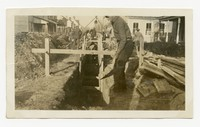 WPA Project 82 Photo 2, Laying 8-inch sewers in Worcester County, Pocomoke, Maryland, December 9, 1935