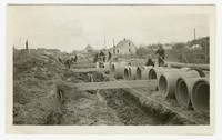 WPA Project 83 Photo 5, Sewer construction, Dorchester County, Hurlock, Maryland, December 17, 1935