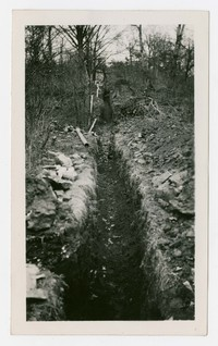 Water line to swimmimg pool, Frostburg, Maryland, December 10, 1935