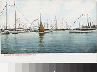 Yachts in harbor, Newport, Rhode Island, 1901-1907