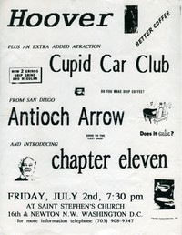 Hoover concert flier, St. Stephen's Church, Washington, D.C. - July 2, 1993